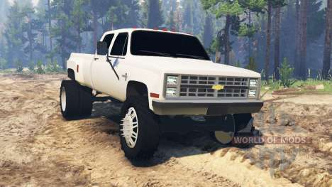 Chevrolet Silverado Dually Crew Cab 1986 for Spin Tires