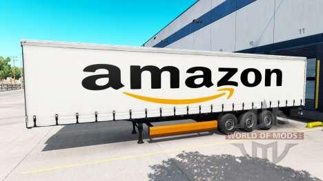 Skin Amazon on the trailer for American Truck Simulator