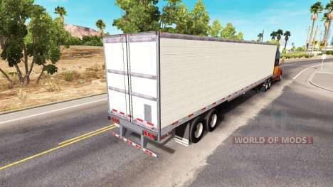 Long refrigerated semi-trailer for American Truck Simulator
