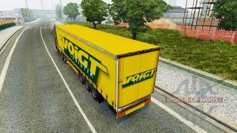 Voigt Logistik skin v1.2 on the trailer for Euro Truck Simulator 2