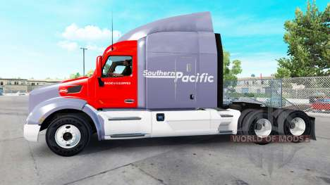 Southern Pacific skin for the truck Peterbilt for American Truck Simulator