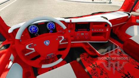 Skin Coca-Cola on the tractor Scania for Euro Truck Simulator 2