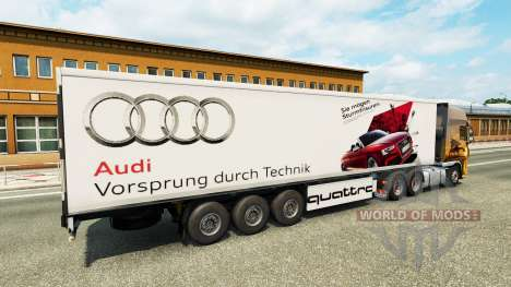 Skin Audi in the trailer for Euro Truck Simulator 2