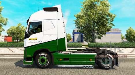 Marti skin for Volvo truck for Euro Truck Simulator 2