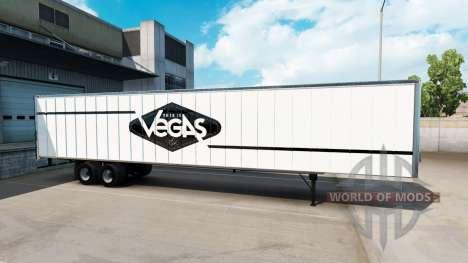 Skin Las Vegas for the semi-trailer for American Truck Simulator