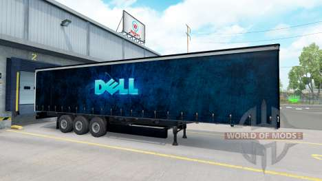 Dell skin on the trailer for American Truck Simulator