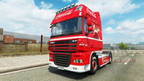 Skin Coca-Cola at the truck DAF for Euro Truck Simulator 2