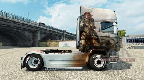 Skin Guild Wars 2 Norn on the tractor Scania for Euro Truck Simulator 2