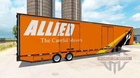 The semi-trailer Moving Van RD for American Truck Simulator