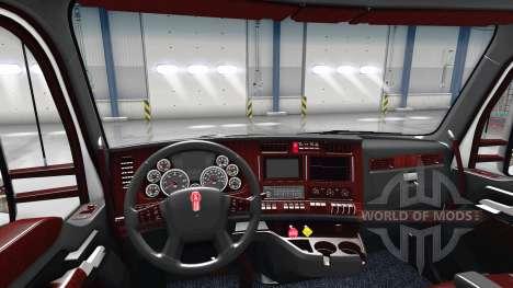 The Deluxe black interior Kenworth T680 for American Truck Simulator