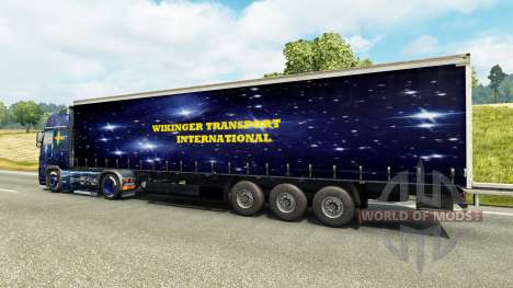 Wiking Transport skin for Volvo truck for Euro Truck Simulator 2