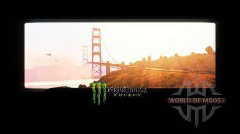 Monster Energy in the loading screens for American Truck Simulator