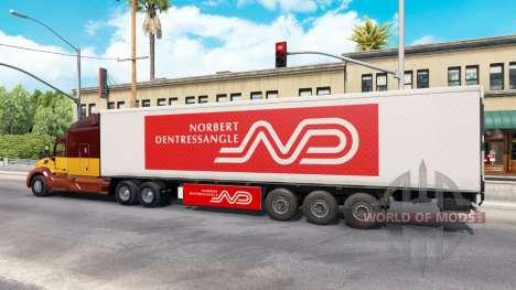 Norbert Dentressangle skin for a trailer for American Truck Simulator