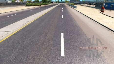 Improved road markings for American Truck Simulator