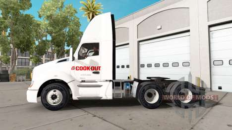 Skin Cook Out on a Kenworth tractor for American Truck Simulator