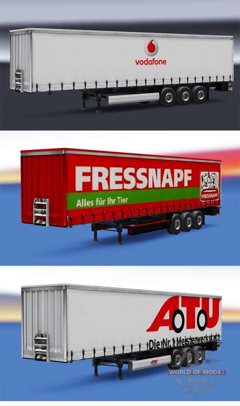 A collection of skins for trailers v1.0 for Euro Truck Simulator 2