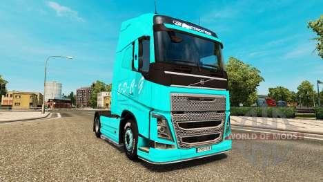 EDCG skin for Volvo truck for Euro Truck Simulator 2