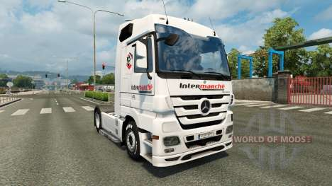Skin Intermarket on the tractor unit Mercedes-Be for Euro Truck Simulator 2