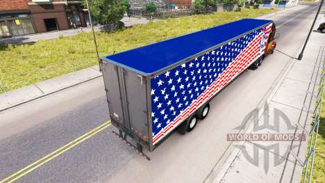 Skin Statue Of Liberty on the trailer for American Truck Simulator