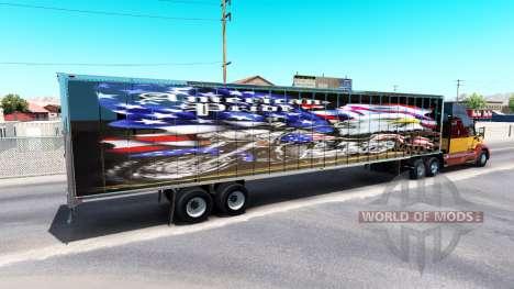 Skin American pride on the trailer for American Truck Simulator