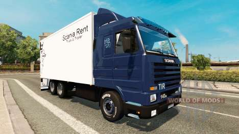 Скин Scania Rent на Scania 143M BDF for Euro Truck Simulator 2