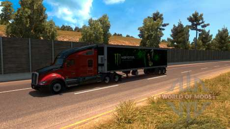 Monster Energy Trailer for American Truck Simulator