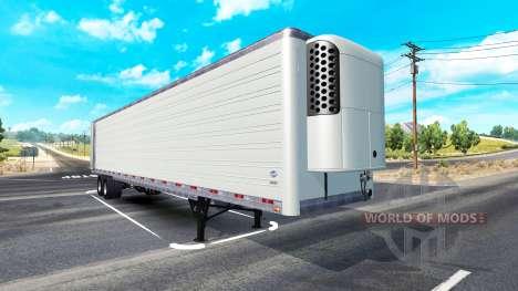 Long refrigerated semi-trailer for American Truck Simulator
