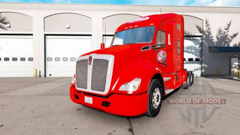 Skin Dr Pepper on a Kenworth tractor for American Truck Simulator