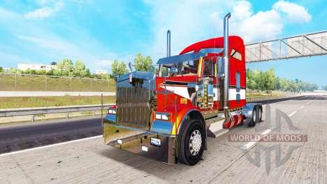 Metallic skin for the Kenworth W900 tractor for American Truck Simulator