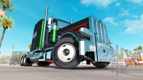 Skin is Black Metallic Stripes on the Peterbilt  for American Truck Simulator