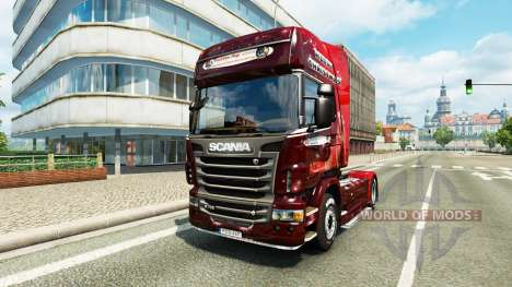 Christmas skin for Scania truck for Euro Truck Simulator 2