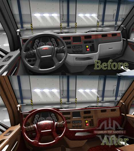 The luxury interior Peterbilt 579 for American Truck Simulator