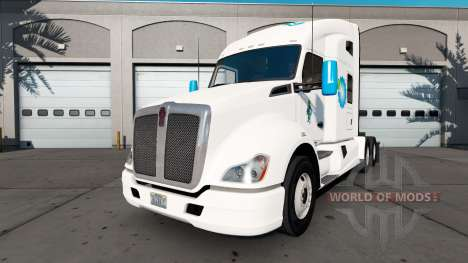 Amerigroup skin for the Kenworth tractor for American Truck Simulator
