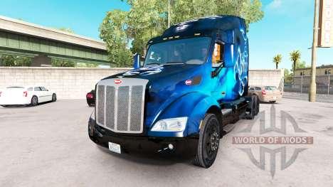 Scorpio Blue skin for the truck Peterbilt for American Truck Simulator