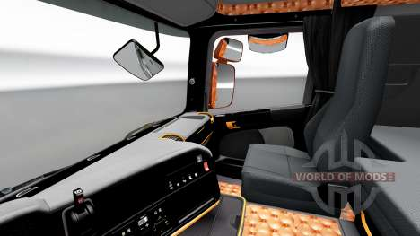 Black and orange interior for Scania for Euro Truck Simulator 2