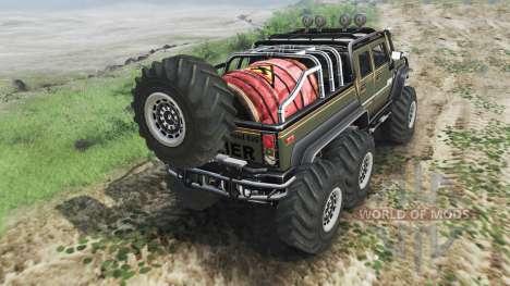Hummer H2 6x6 [diesel][03.03.16] for Spin Tires