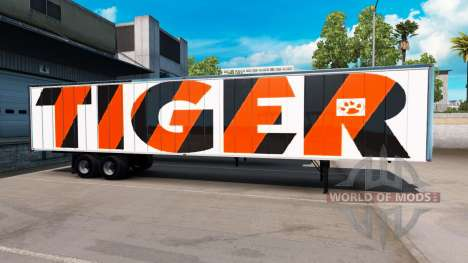 The Tiger skin on the trailer for American Truck Simulator