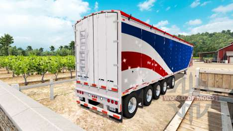 The Wilkens Walking Floor Semi-Trailer for American Truck Simulator