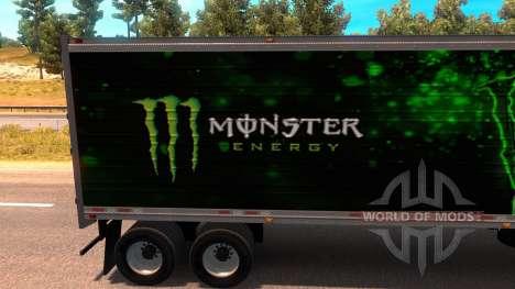 Monster Energy Trailer for American Truck Simulator