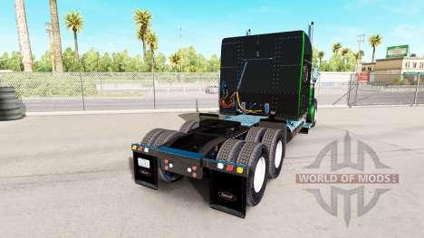 Skin is Black Metallic Stripes on the Peterbilt  for American Truck Simulator