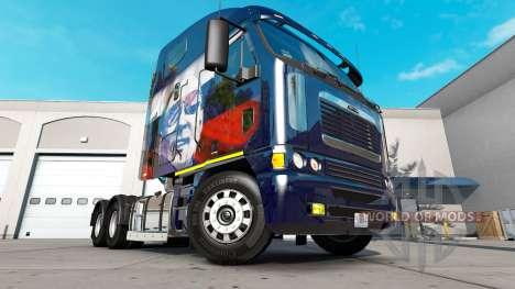 Skin Putin on the truck Freightliner Argosy for American Truck Simulator