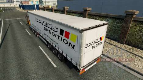 Skin Boyens v1.1 on the trailer for Euro Truck Simulator 2