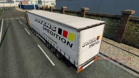 Skin Boyens v1.1 on the trailer for Euro Truck Simulator 2