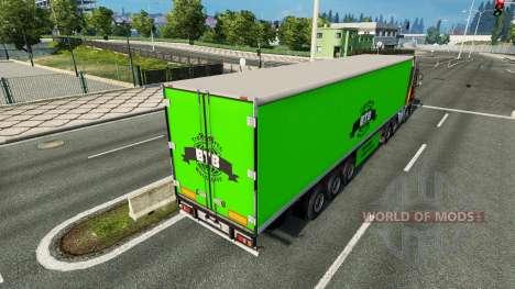BTB skin on the trailer for Euro Truck Simulator 2