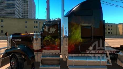 Kenworth W900 Guns and Roses Skin for American Truck Simulator