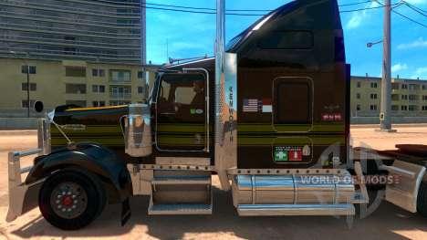 Kenworth W900 Golden Firebird Skin for American Truck Simulator
