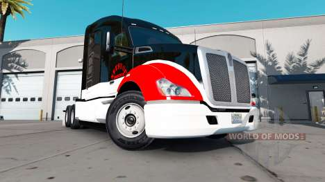 Netstoc Logistica skin for the Kenworth tractor for American Truck Simulator