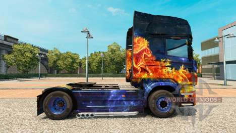 Blue Fire skin for Scania truck for Euro Truck Simulator 2