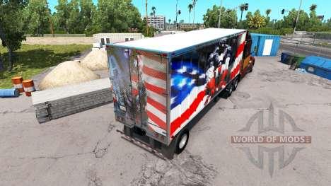 Skin Super Hero on the semi-trailer for American Truck Simulator