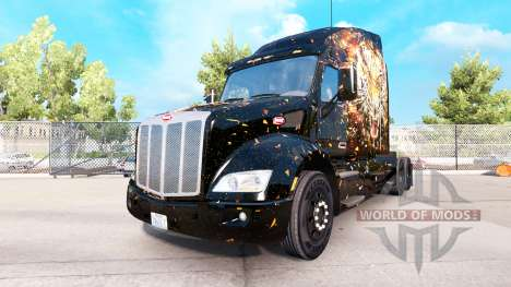 Tiger skin for Peterbilt and Kenworth trucks for American Truck Simulator